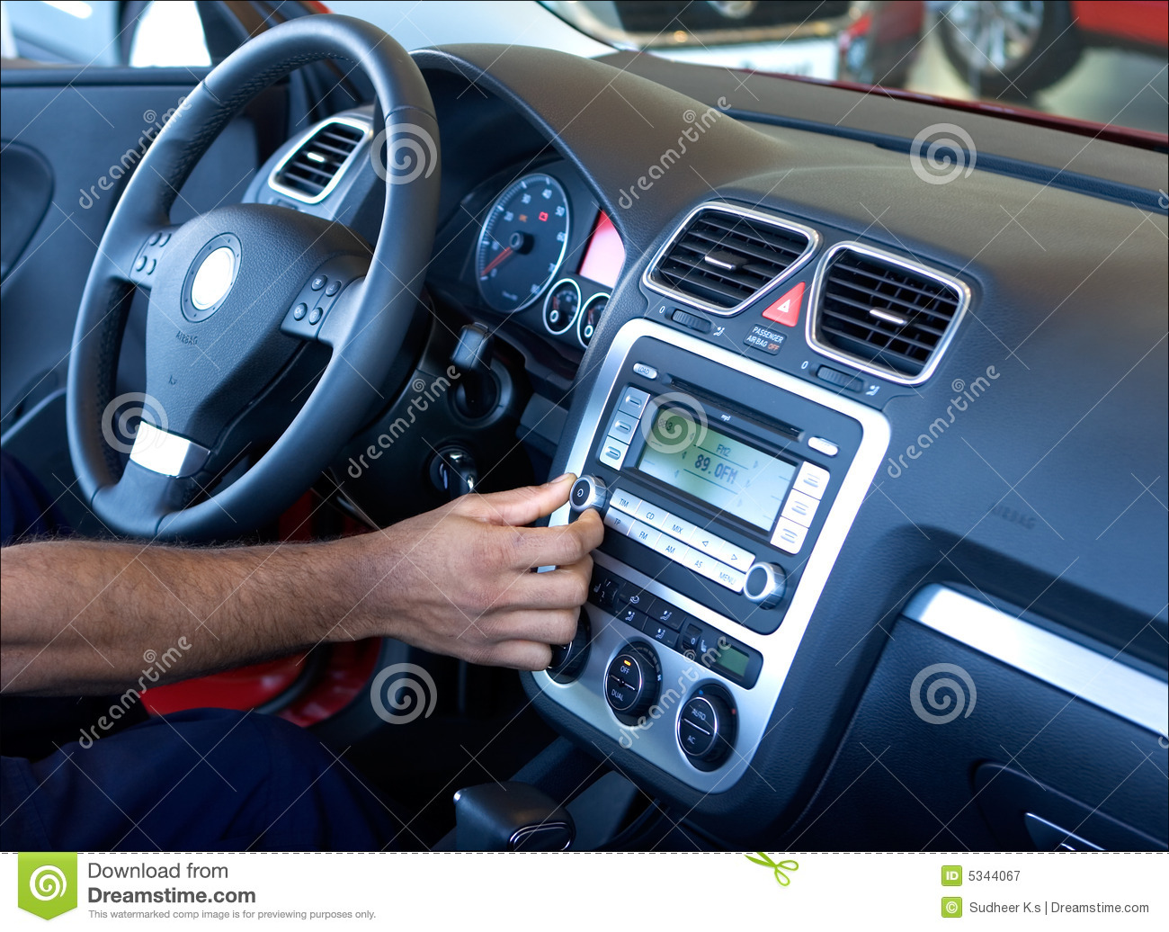 Tuning car radio stock image. Image of accessories, workshop 5344067.