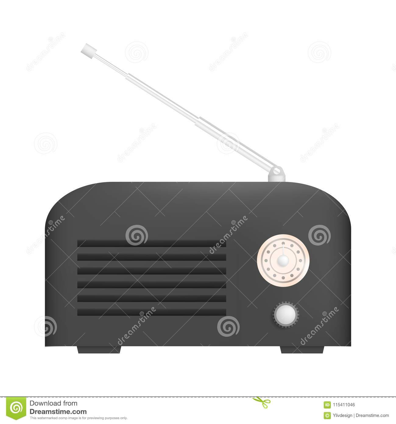 Background of hand tuning in to a radio station vector | free download.