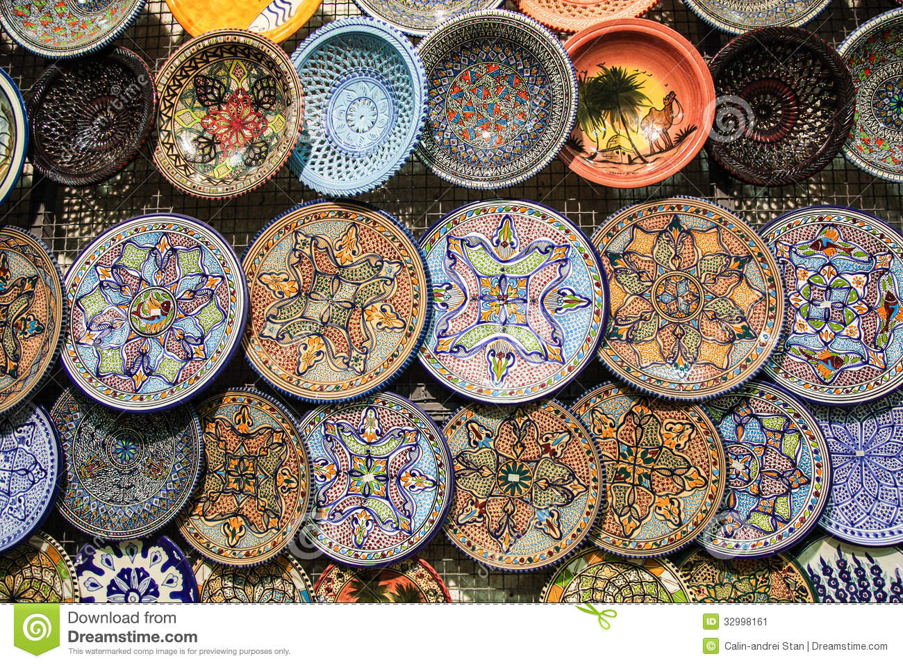 Tunisia Handcrafted Traditional Plates And Pottery