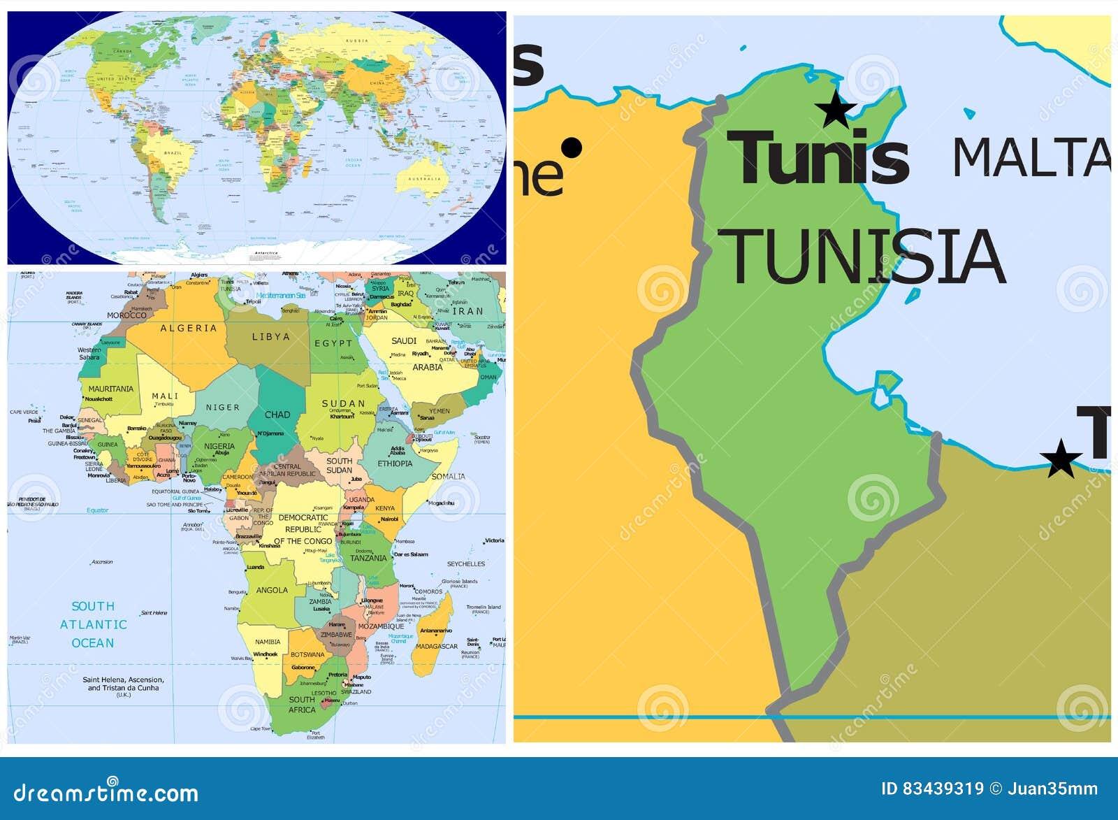 Picture of: Tunisia World Stock Illustration Illustration Of Chad 83439319