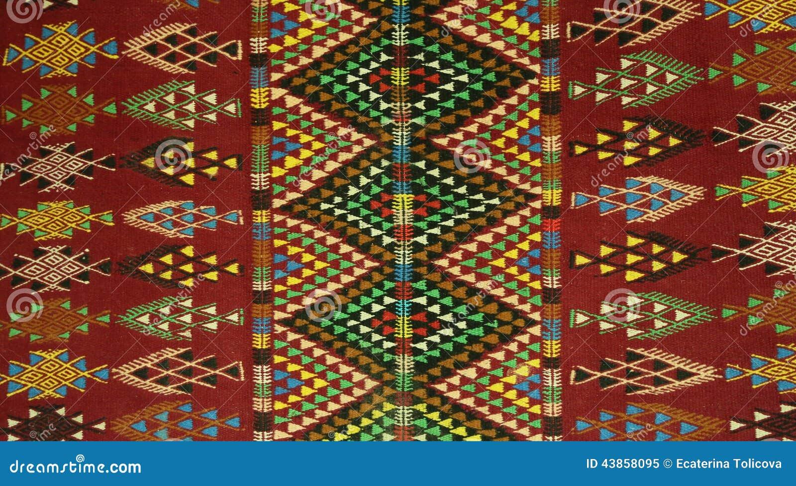 tunisian berbers 39 carpet style margoum stock image image of design yellow 43858095. Black Bedroom Furniture Sets. Home Design Ideas
