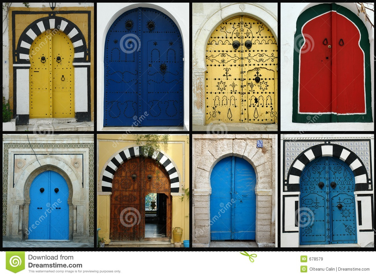 Tunisian Doors Stock Image Image Of Entry Africa
