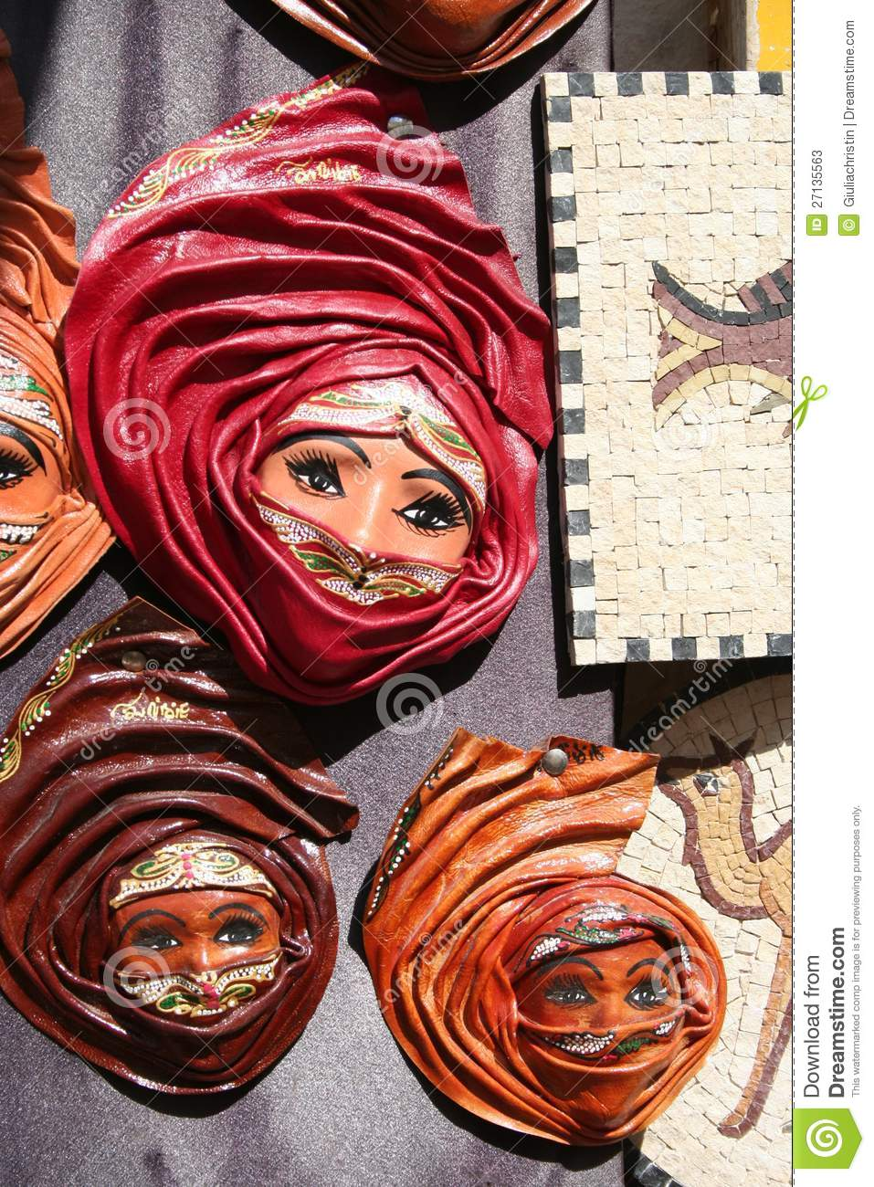 Tunisian Leather Souvenirs Editorial Stock Photo Image