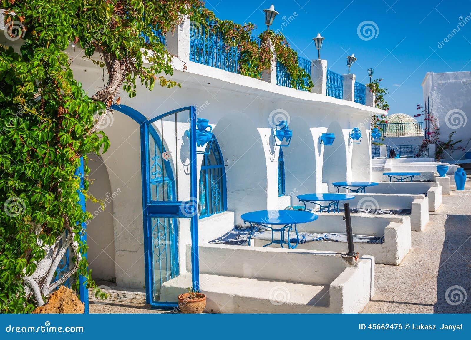 Tunisian restaurant 39 s close up sidi bou said town in for Sidi bou said restaurant