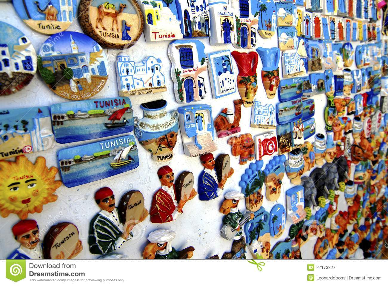 Tunisian Souvenir Magnet Editorial Photography