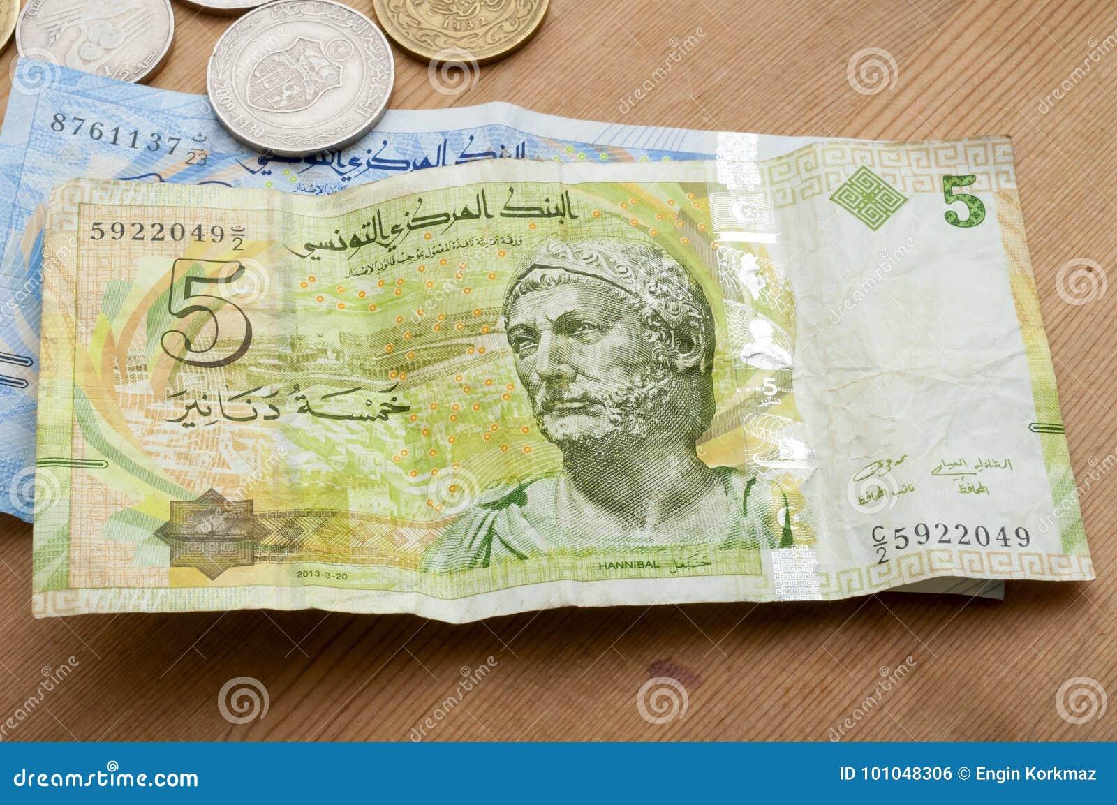 Tunisisk valuta, tunisiska dinar