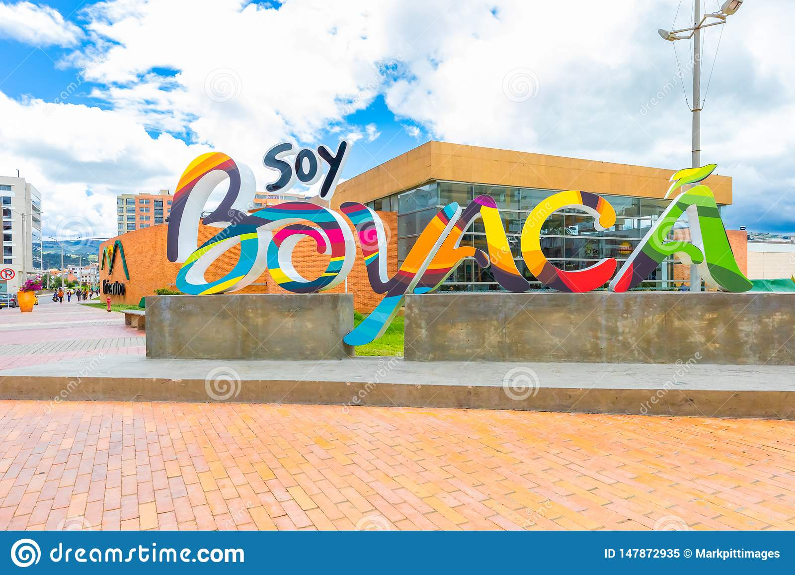 Tunja City Boyaca Region Of Colombia Colored Sign Editorial Image