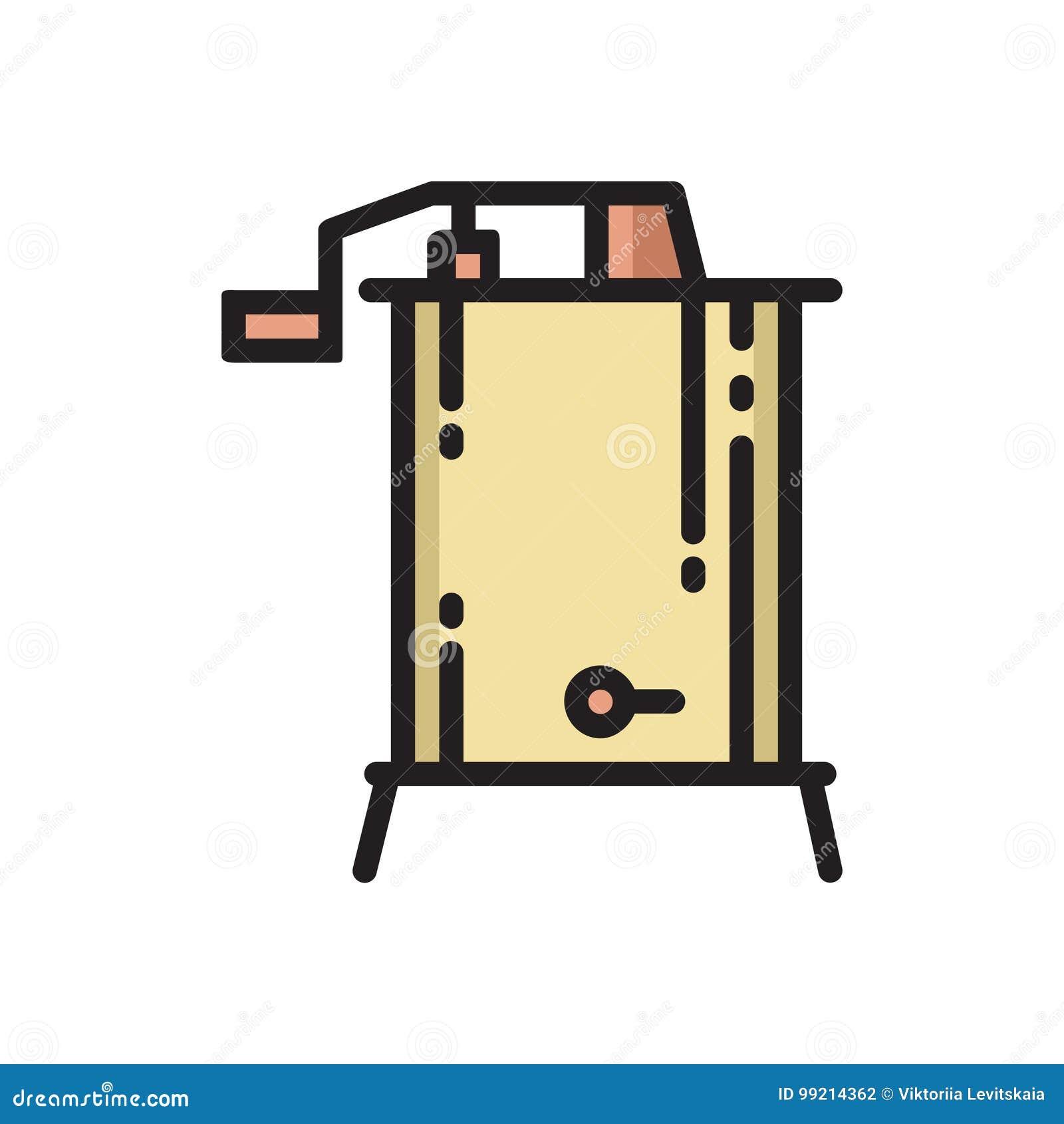 Tunn linje symbol för radiell centrifugal honungutsugningsfläkt