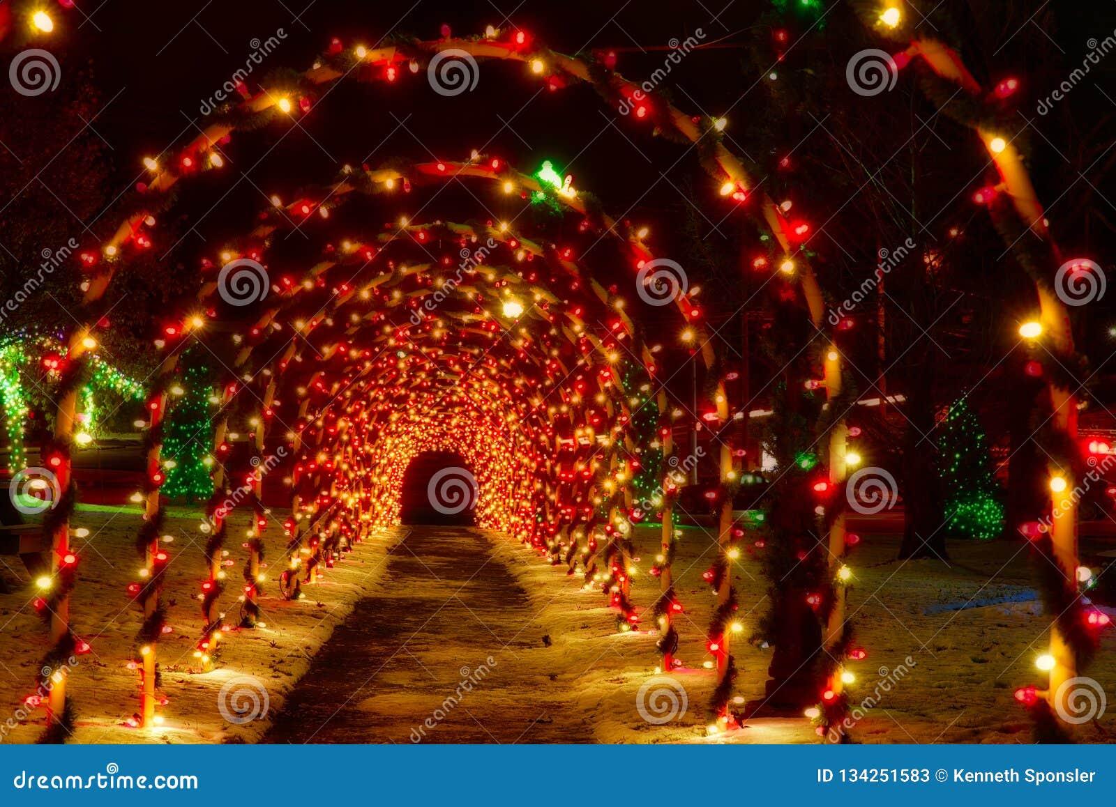 Tunnel av julbågar