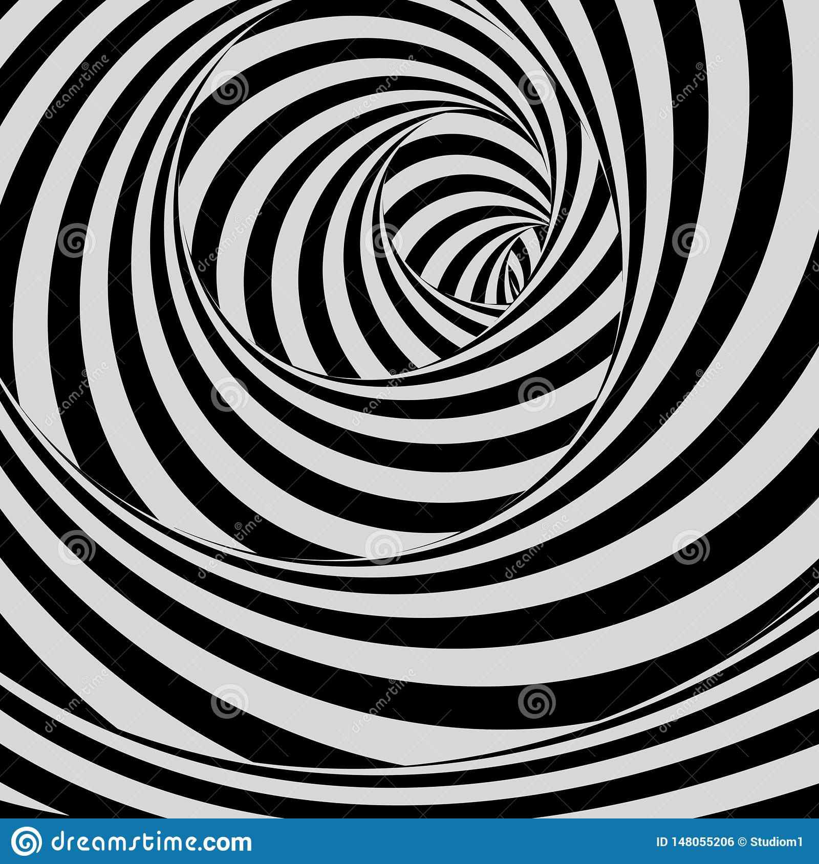 Tunnel. Black And White Abstract Striped Background ...