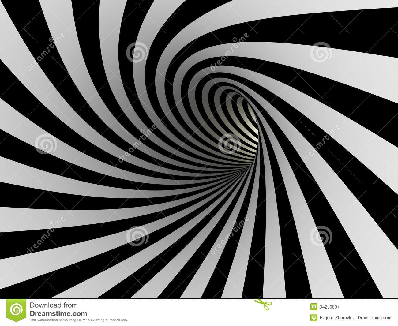 A Line Design : Tunnel of black and white lines stock illustration image