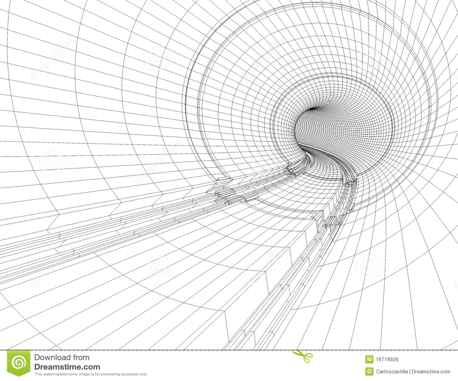 Tunnel Blueprint Royalty Free Stock Image Image 16719926