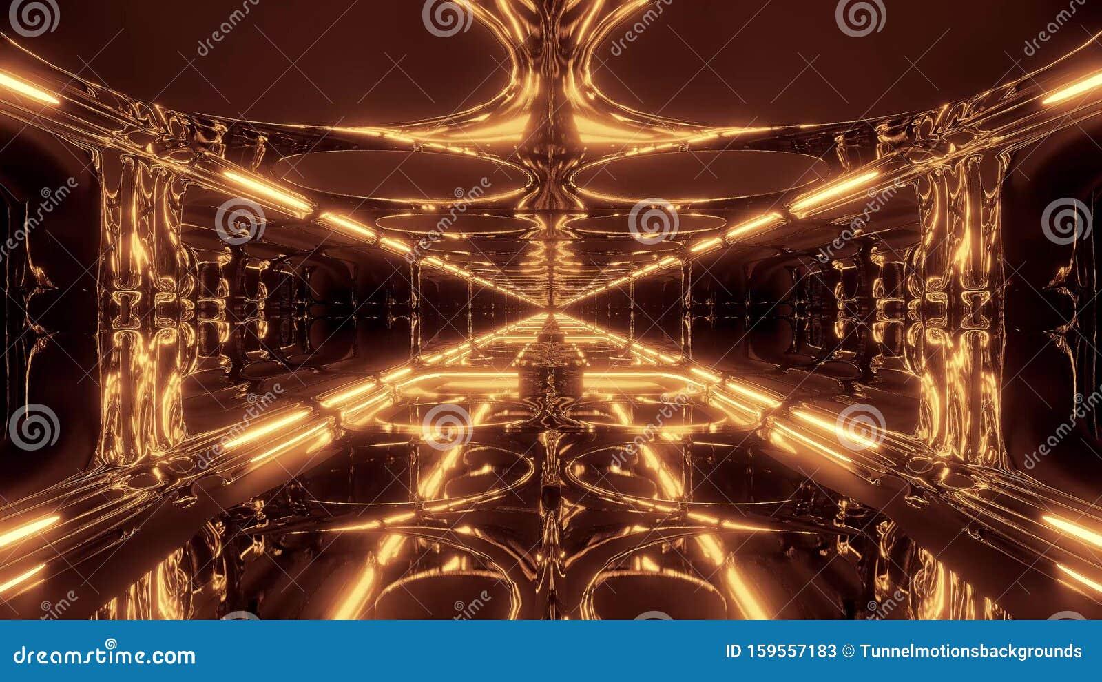 Tunnel Extraterrestre De Science Fiction Futuriste Avec Reflexion Energique 3d Illustration Fond D Ecran Illustration Stock Illustration Du Illustration Avec 159557183