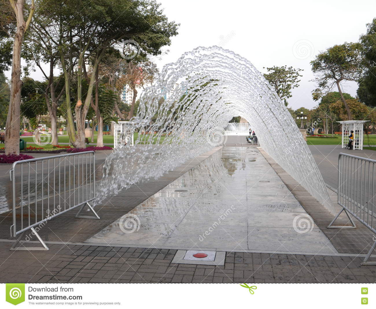 Water fountains lima - Tunnel Fountain In The Magic Water Circuit Lima Editorial Photo