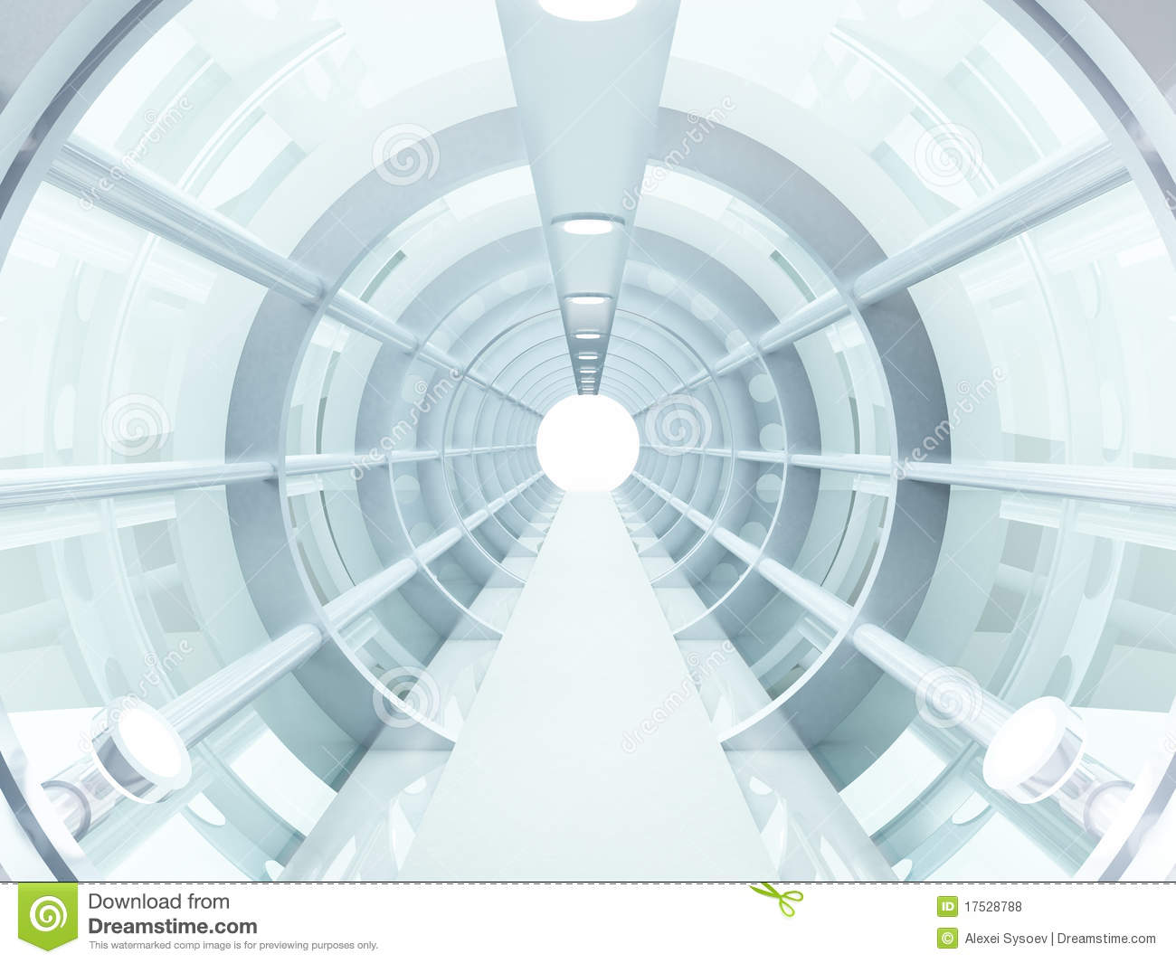 Tunnel futuristic royalty free stock photos image 17528788 for Concept metal