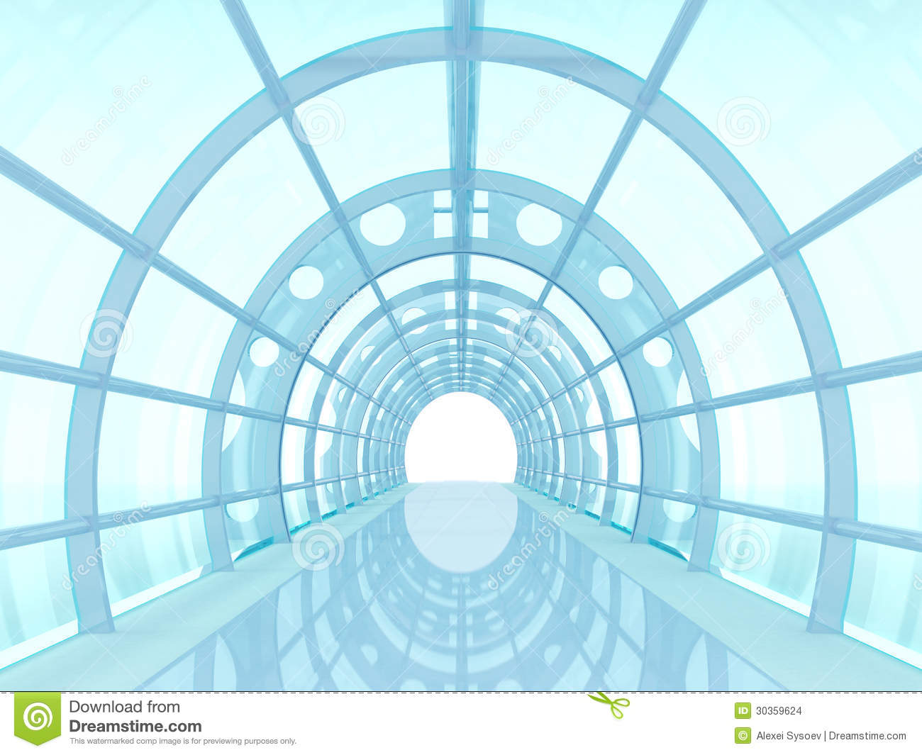 Tunnel futuristic stock illustration image of district for Concept metal
