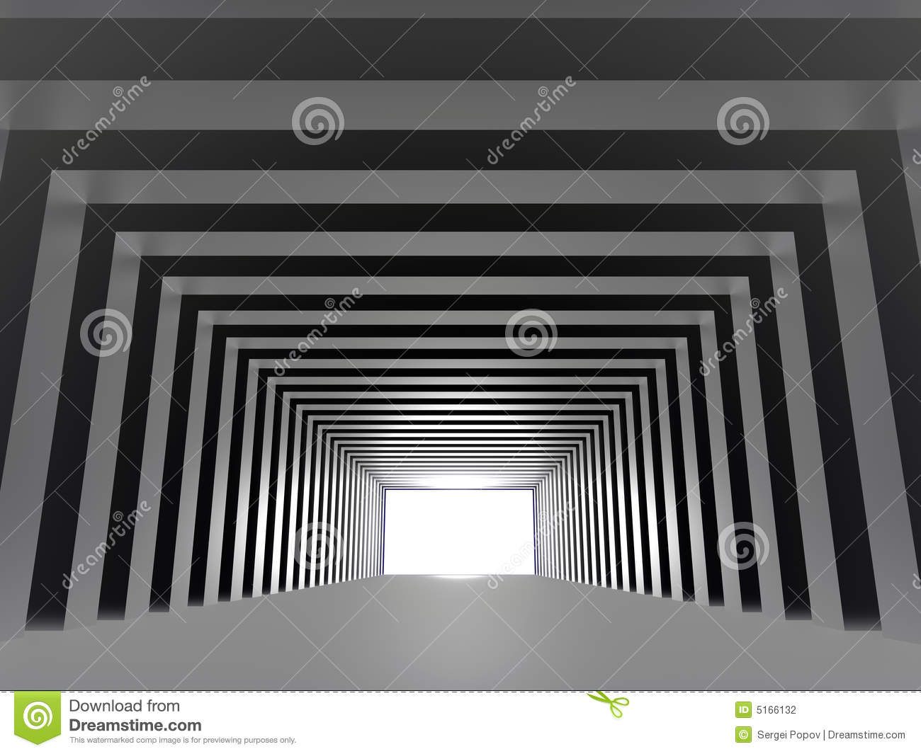 Tunnel with light