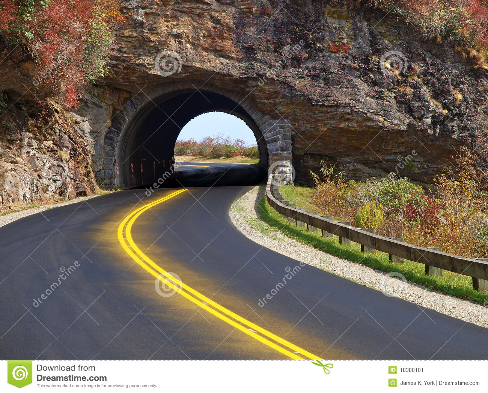 Tunnel Through Mountain Stock Image Image 18380101