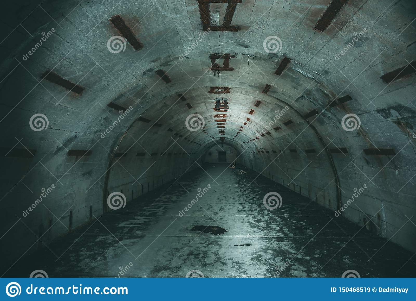 Tunnel O Corridoio Sotterraneo Lungo In Bunker O ...