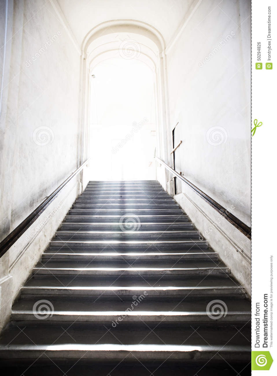 Tunnel Stair Going Up To The Light Stock Photo Image