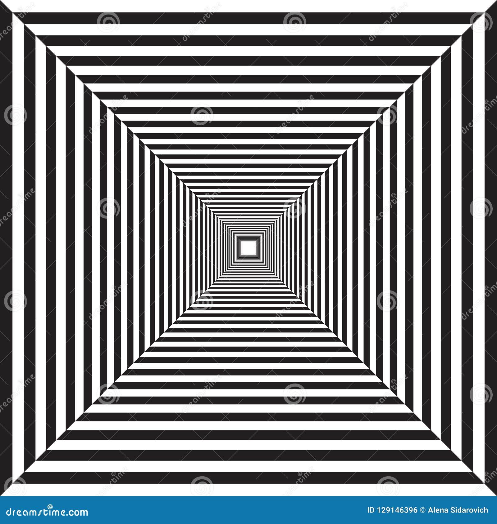Disegni Geometrici Bianco E Nero tunnel a strisce geometrico, disegno in bianco e nero