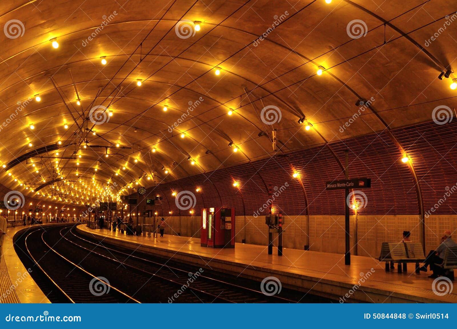 Tunnel Of Subway, Monaco Station Stock Photo - Image: 50844848