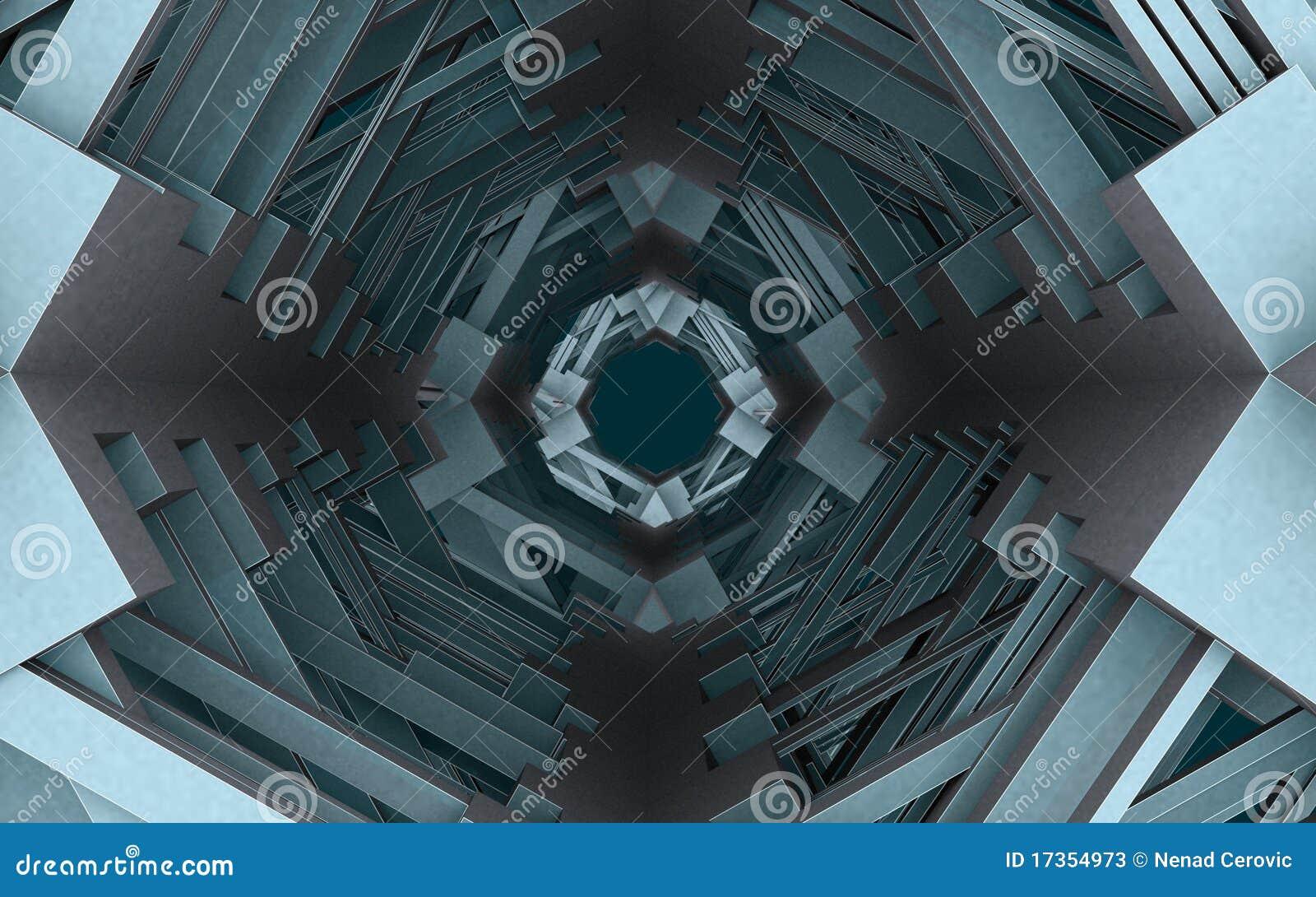 Tunnel urbain abstrait 03 de construction de ville for Construction de tunnel