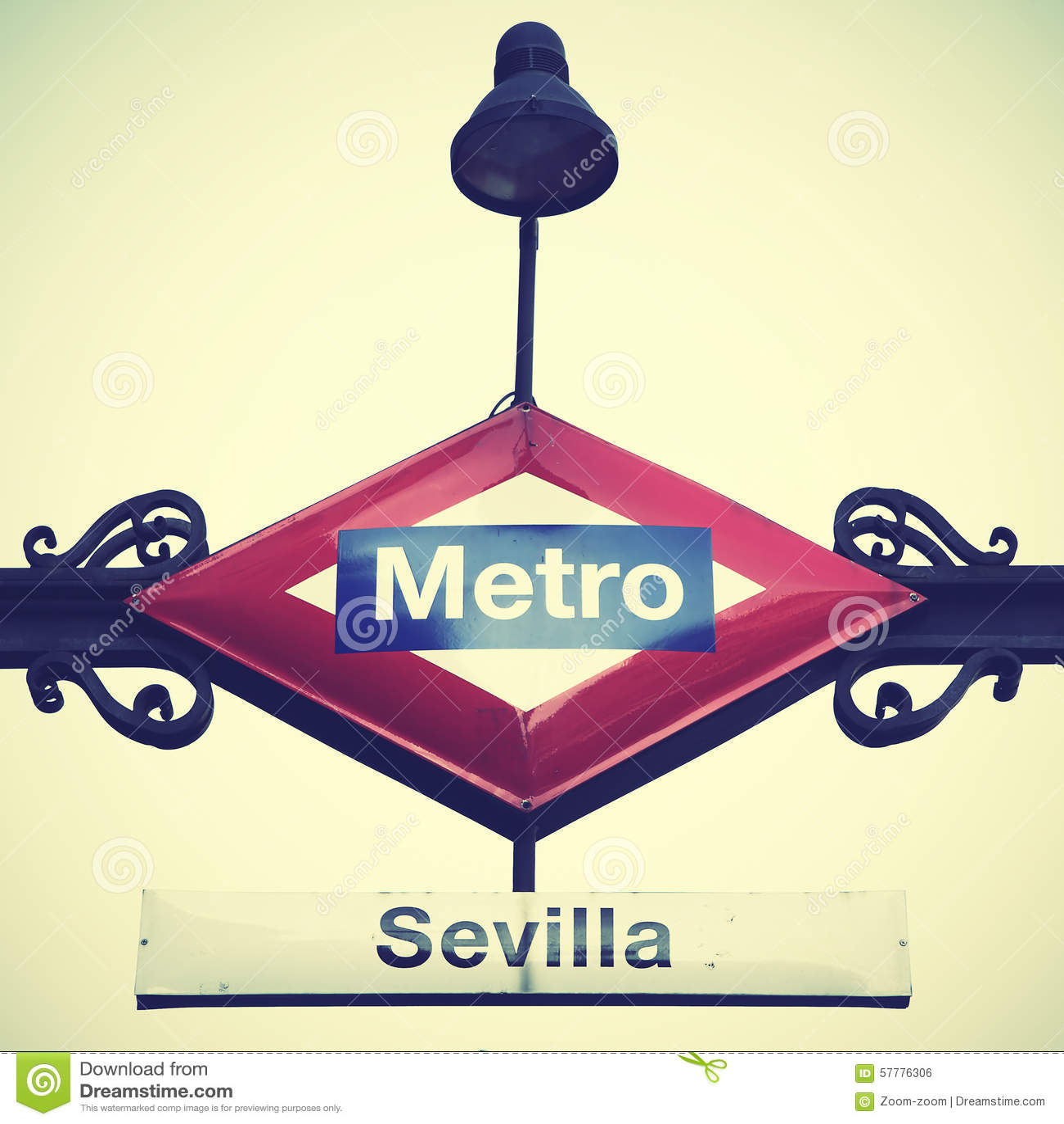 Tunnelbanan undertecknar in Madrid