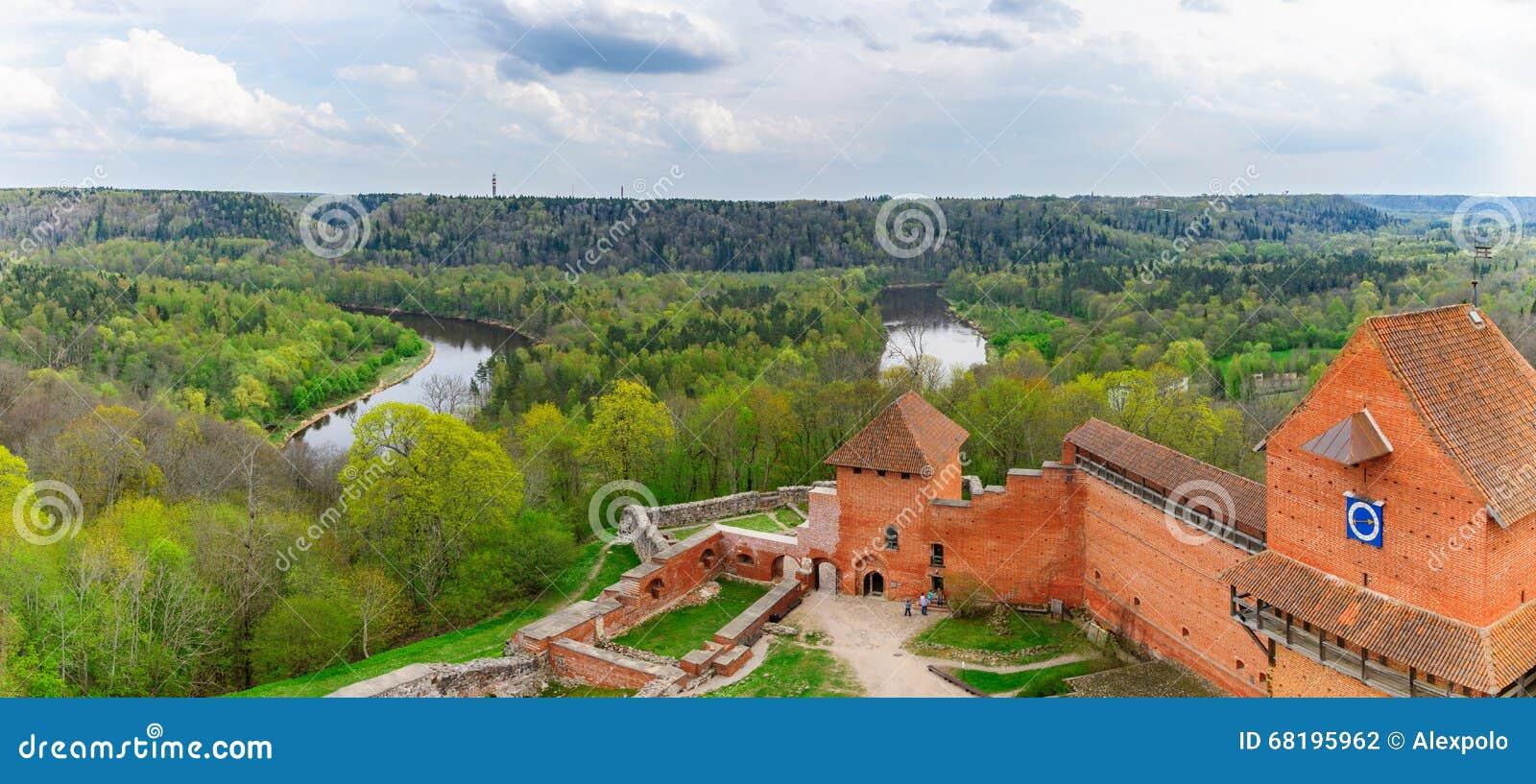 Turaida castle and Gauja river valley in Sigulda, Latvia