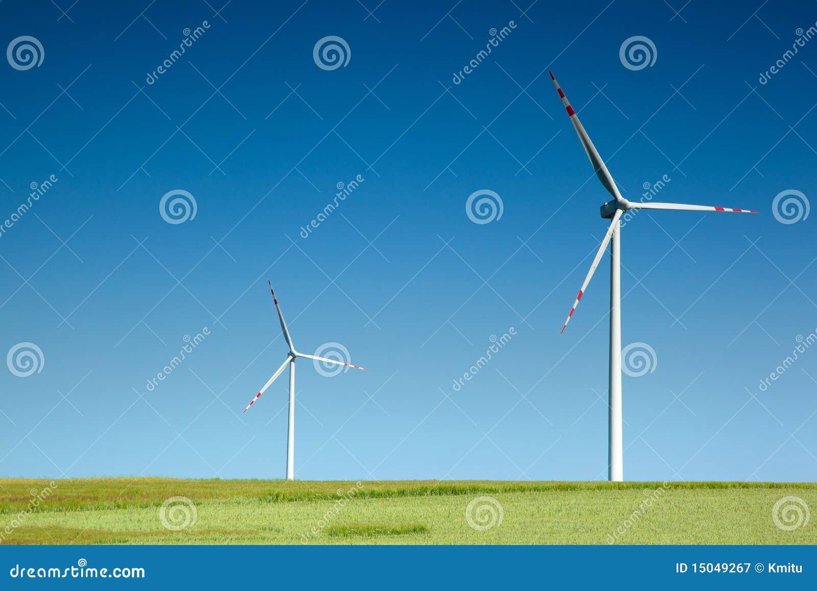 Turbina wiatr dwa