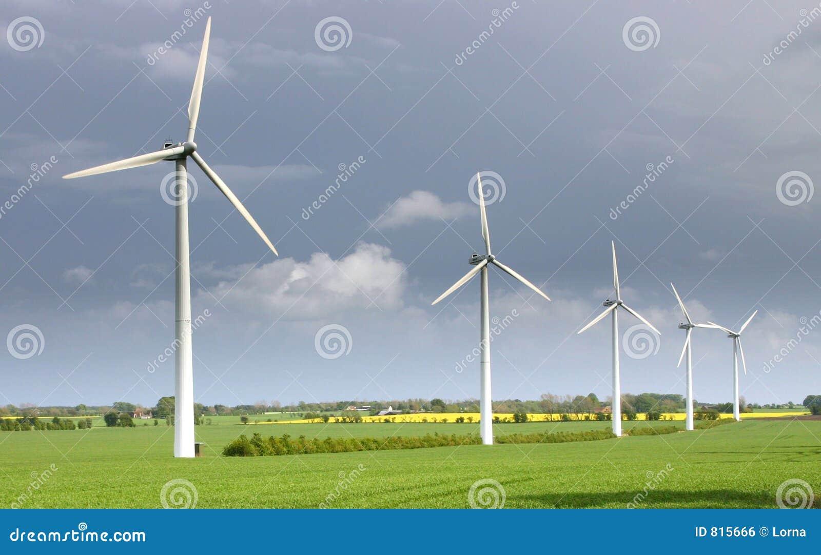 Turbine Di Vento Mulini A Vento Moderni Fotografia Stock Immagine