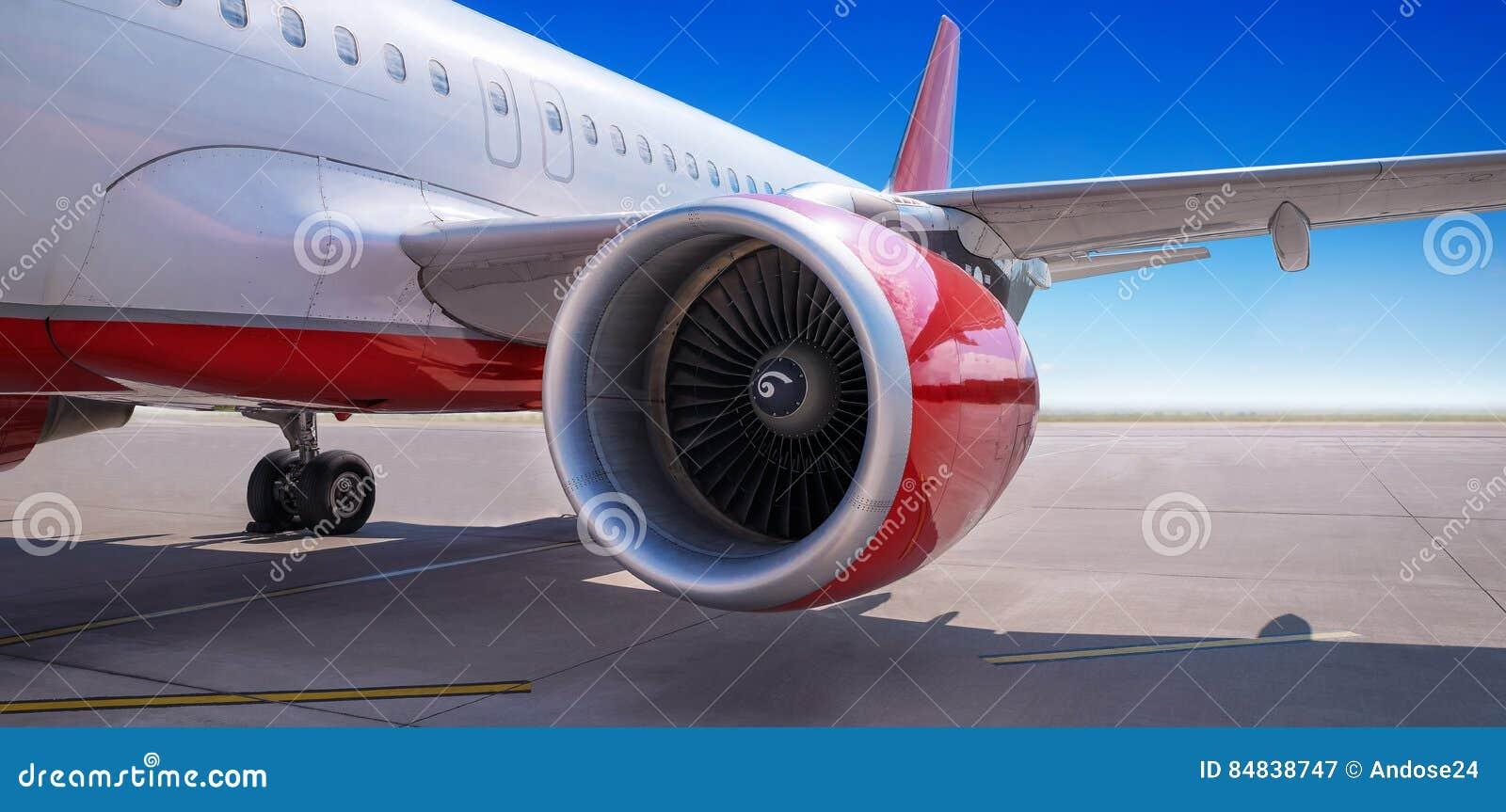 Turbine eines Passagierflugzeugs
