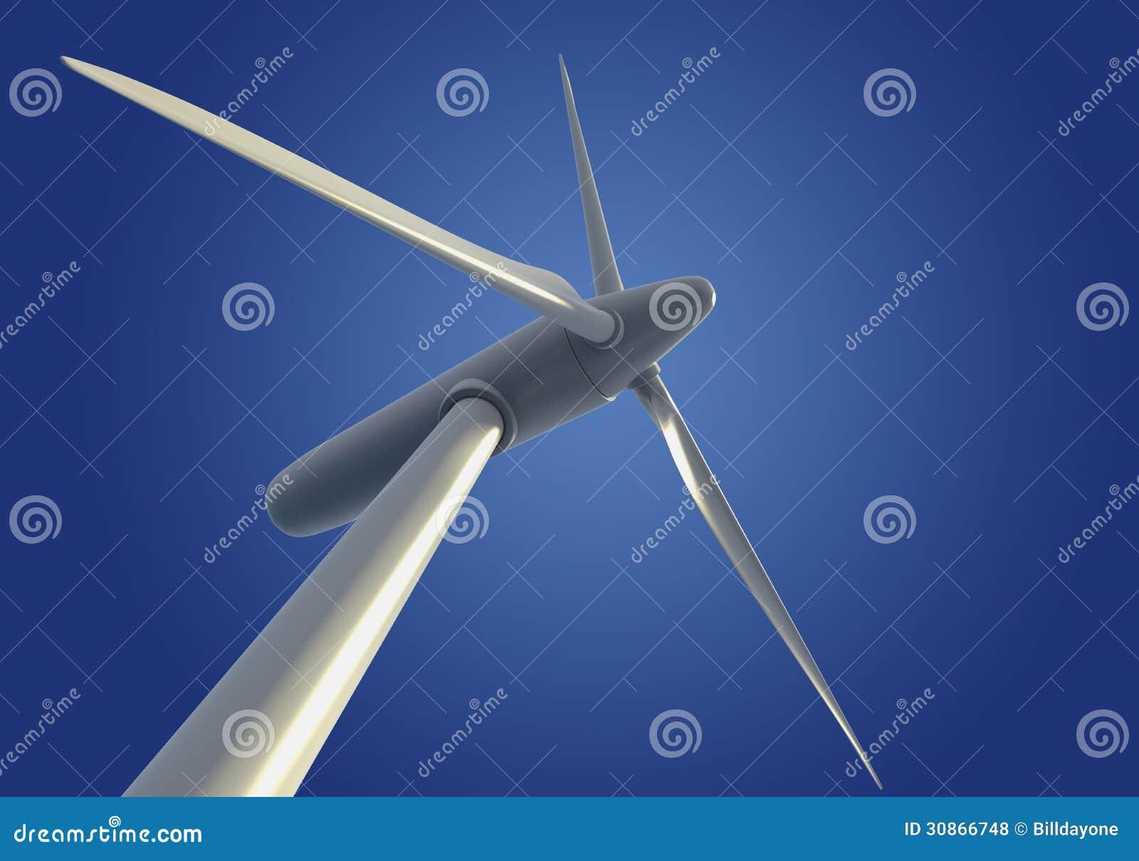 Turbine ou générateur de vent simple