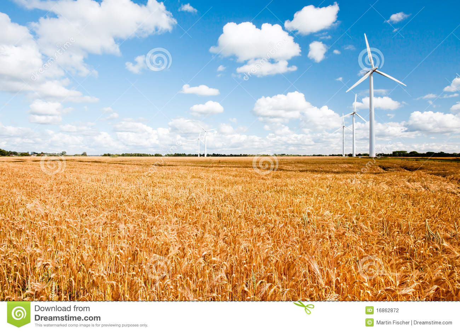 Turbines de vent dans la campagne