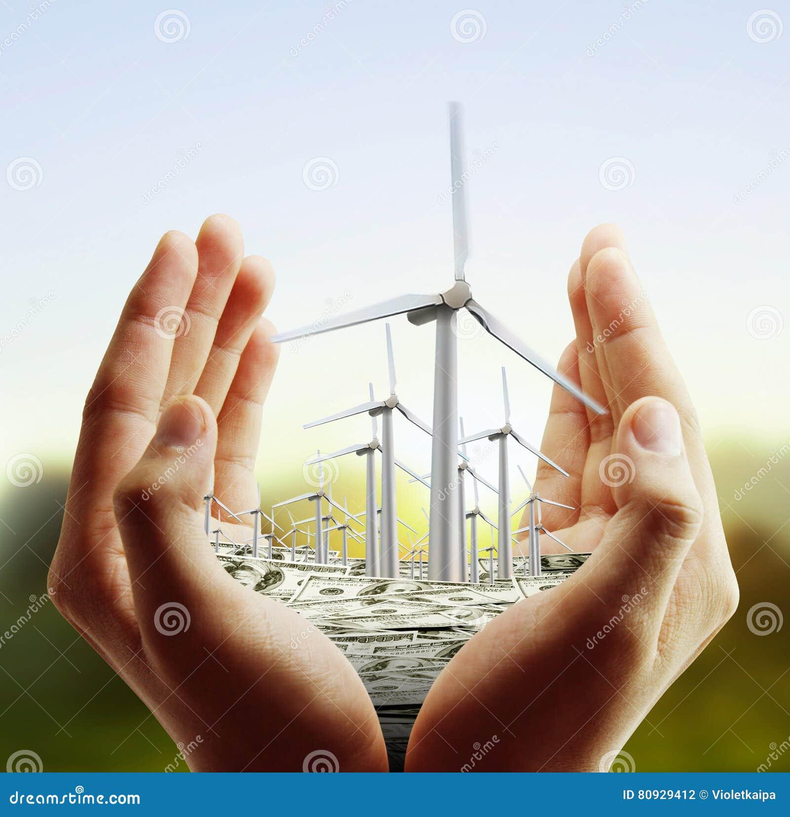 Turbines de vent dans la main