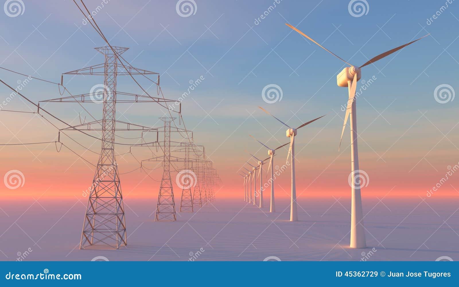 Turbines de vent, zone jaune