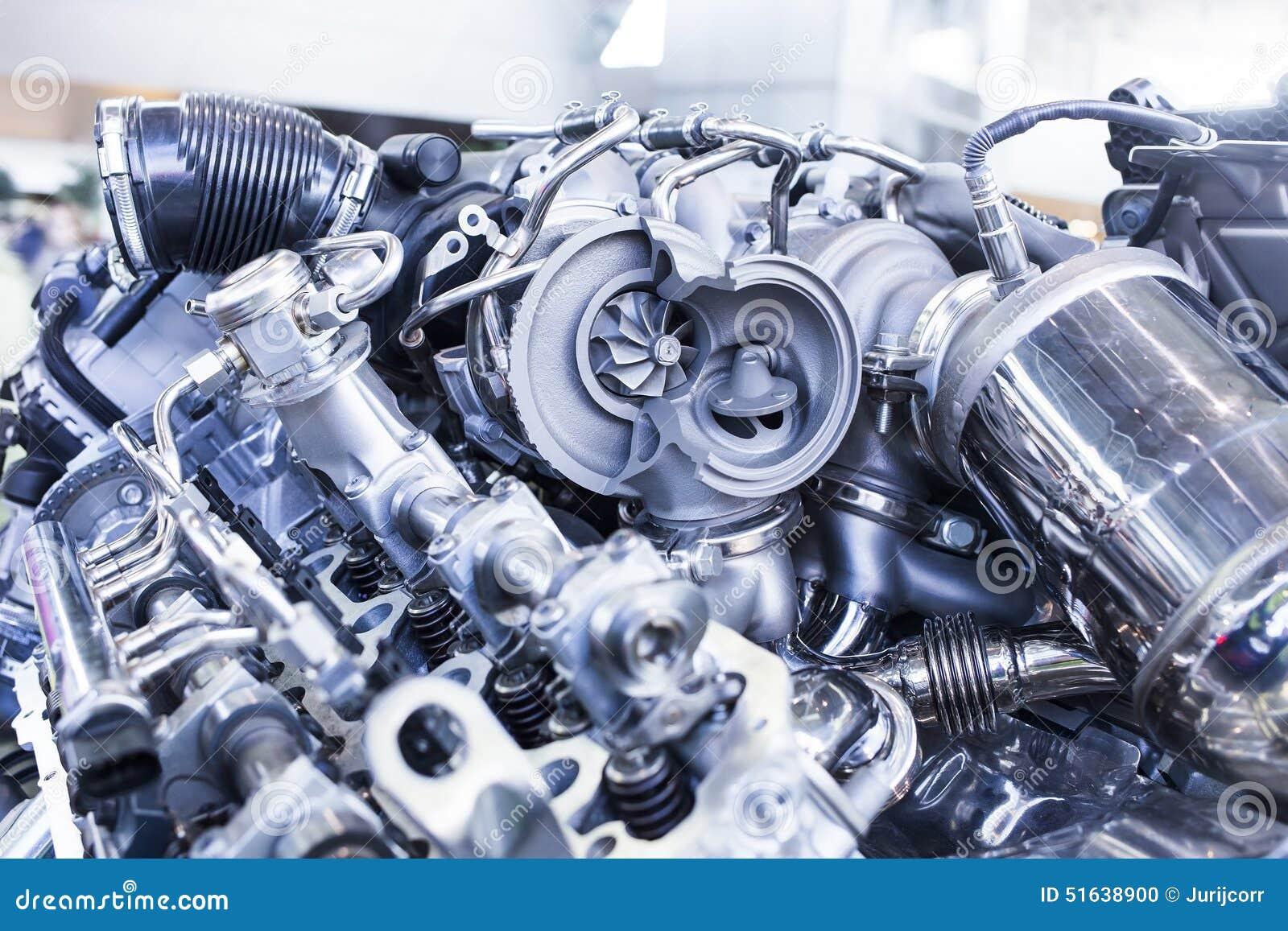 Turbo-Automotor, Der Innere Teile Und Turbine Zeigt Stockfoto - Bild ...