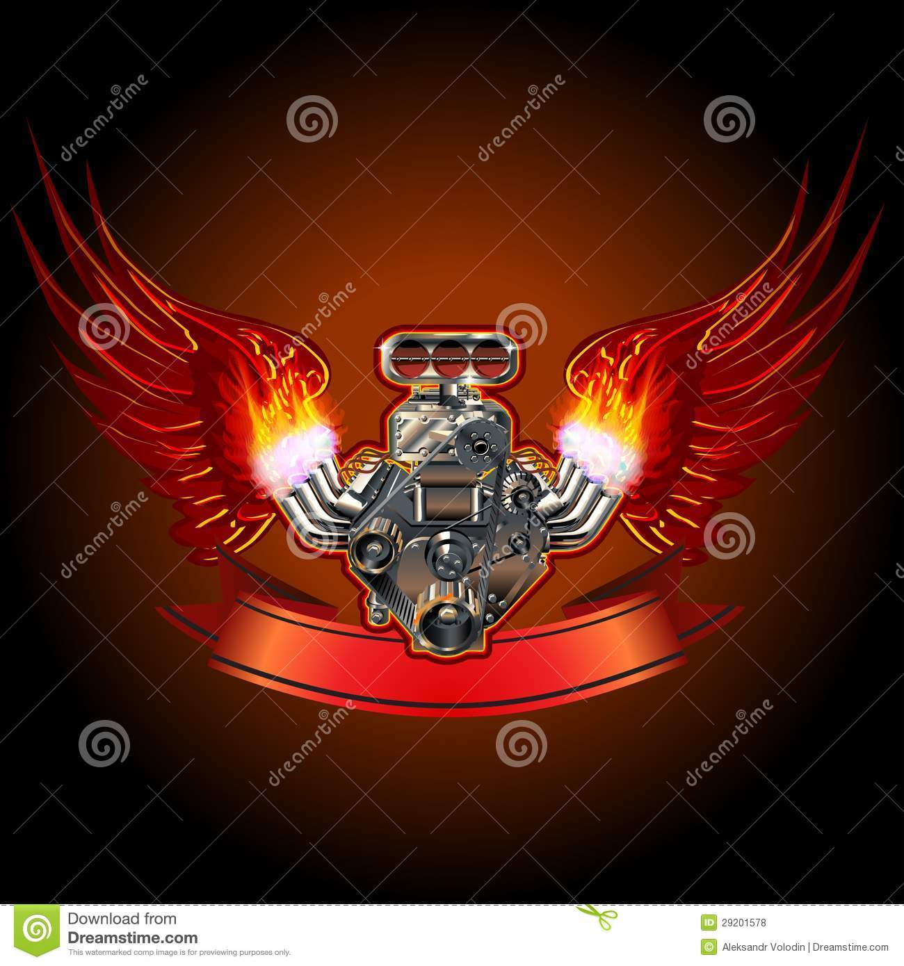 Turbo Engine With Wings Royalty Free Stock Photos Image