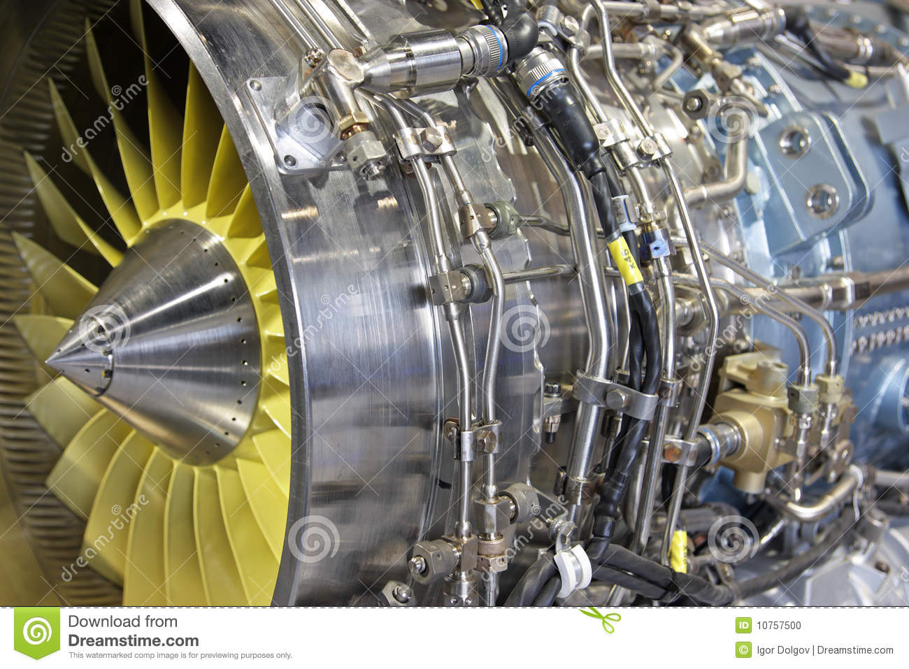 Turbo Jet Engine Stock Photo - Image: 10757500