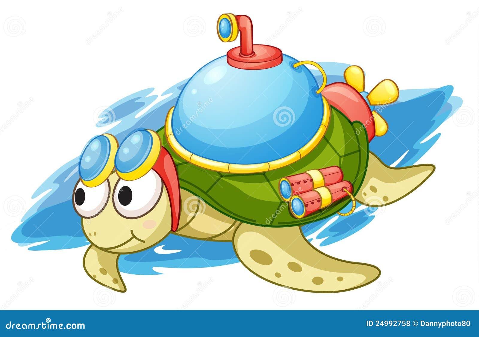 turbo turtle stock illustration illustration of comical 24992758