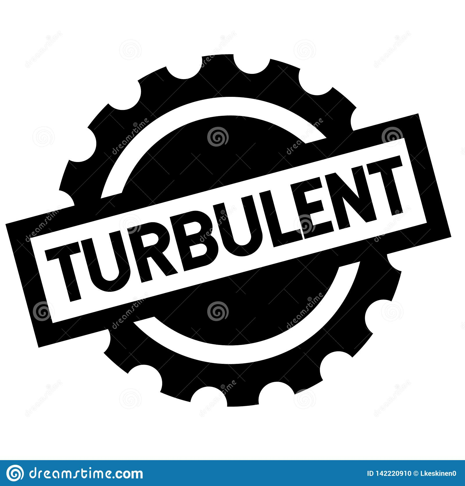 Turbulenter schwarzer Stempel