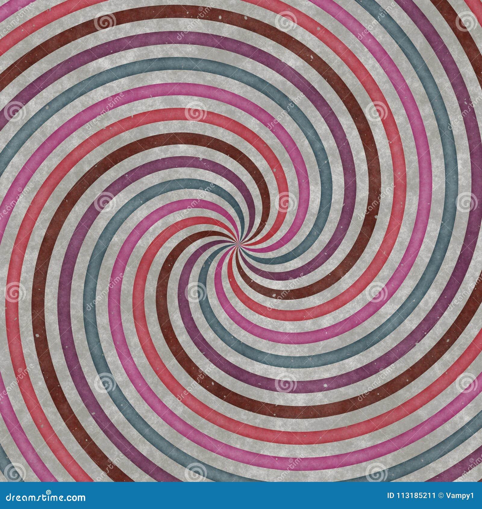 Turbulenz-förmige Kreise, Kurven und Spiralen, Grafikdesign Gewundene Beschaffenheit