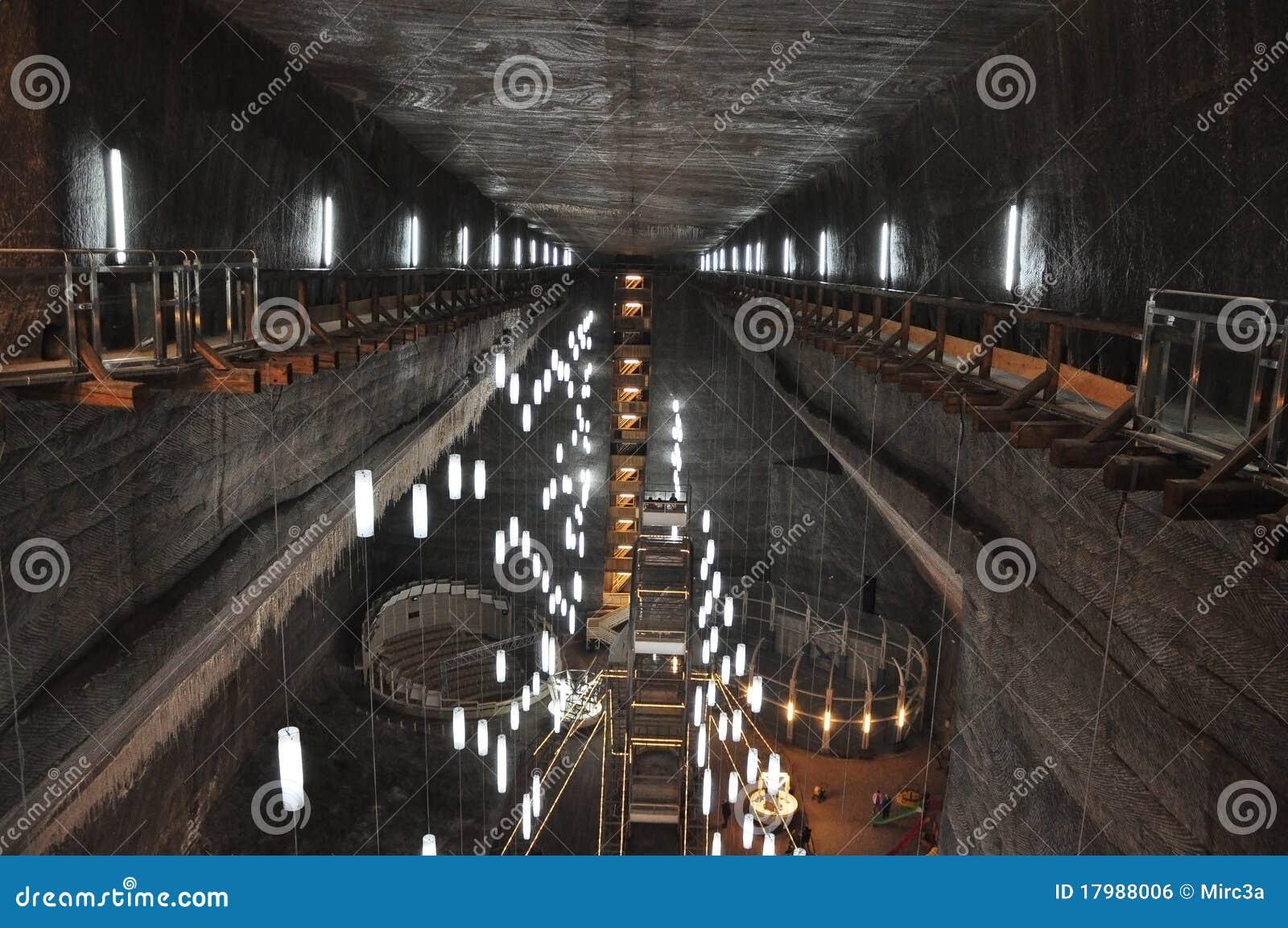 Turda Salt mine editorial photo  Image of mechanism, cavern