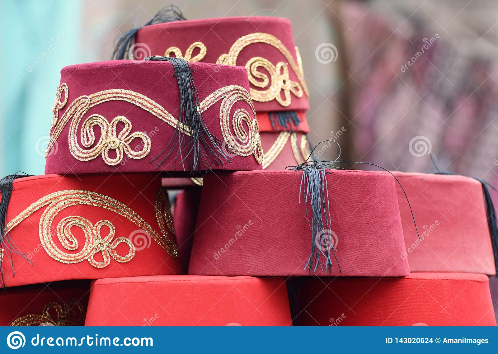 Tureccy fezów kapelusze