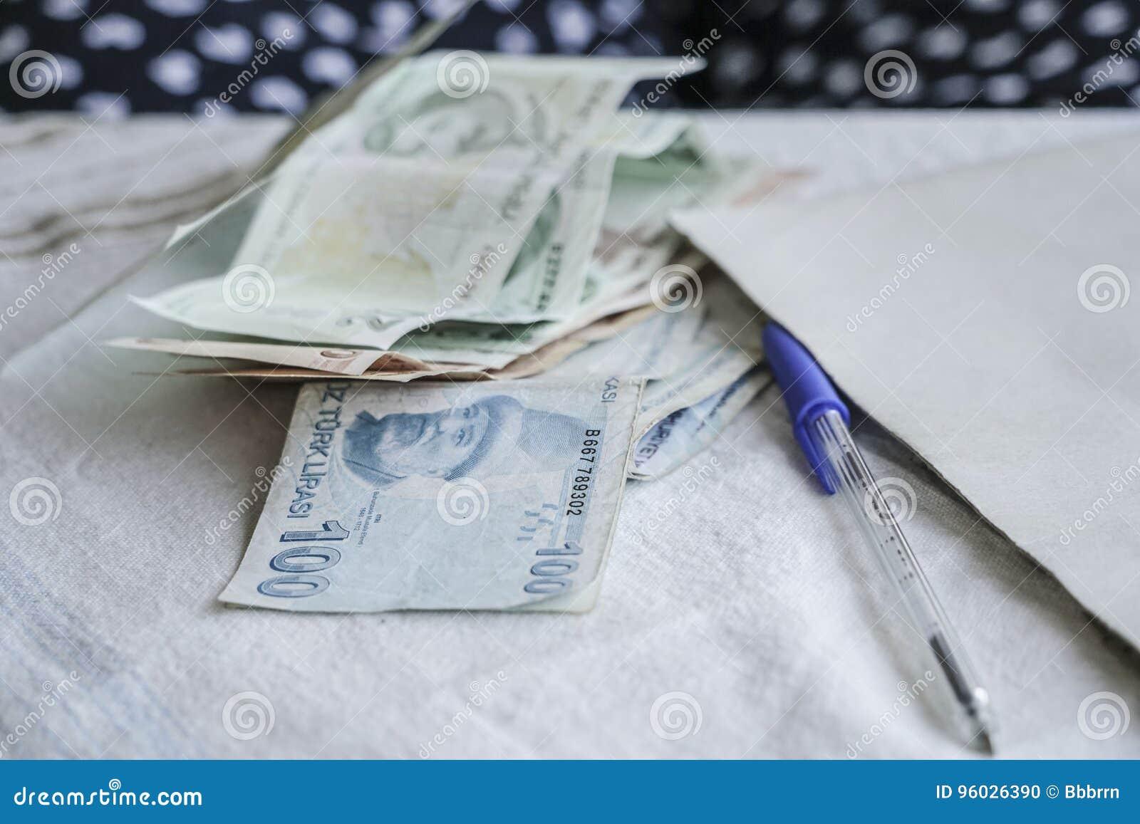 Tureckiego lira banknoty
