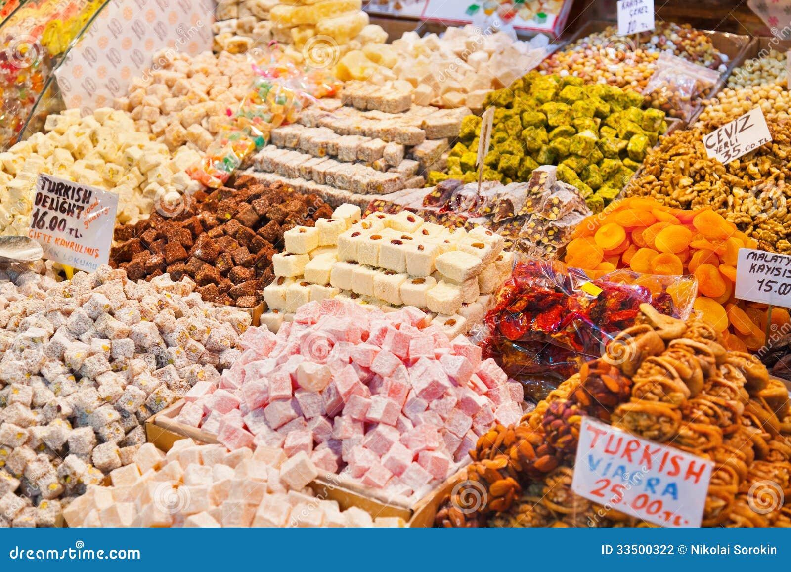 Tureckiego zachwyta cukierki