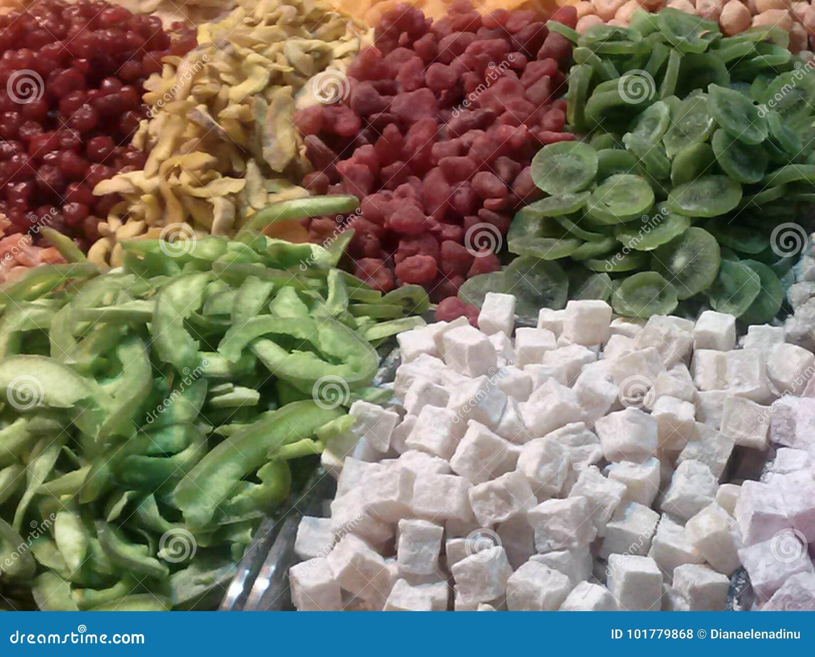 Tureckiego zachwyta cukierki w Turcja
