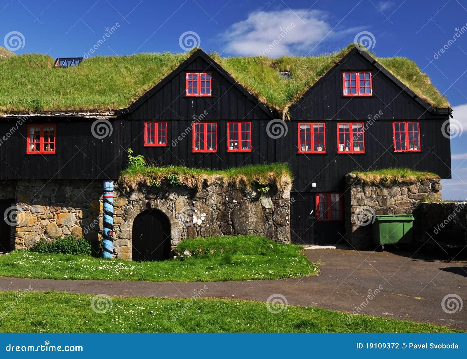 Turf Covered House Iceland Stock Photography Image