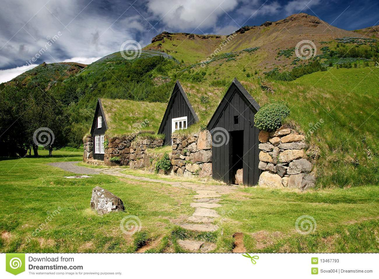 Turf Roof Houses Stock Image Image Of Roof Building