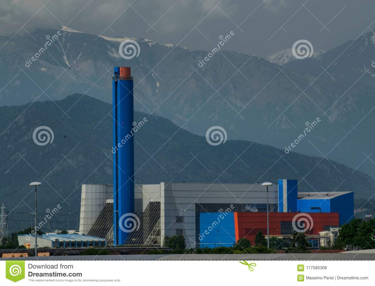 Turin, Gerbido, Piedmont Italy 27 May 2018. The waste-to-energy plant of the company TRM-IREN GROUP